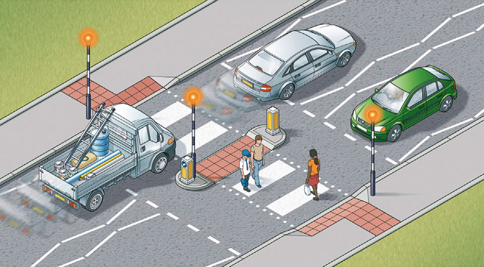 what do these zigzag lines at pedestrian crossings mean